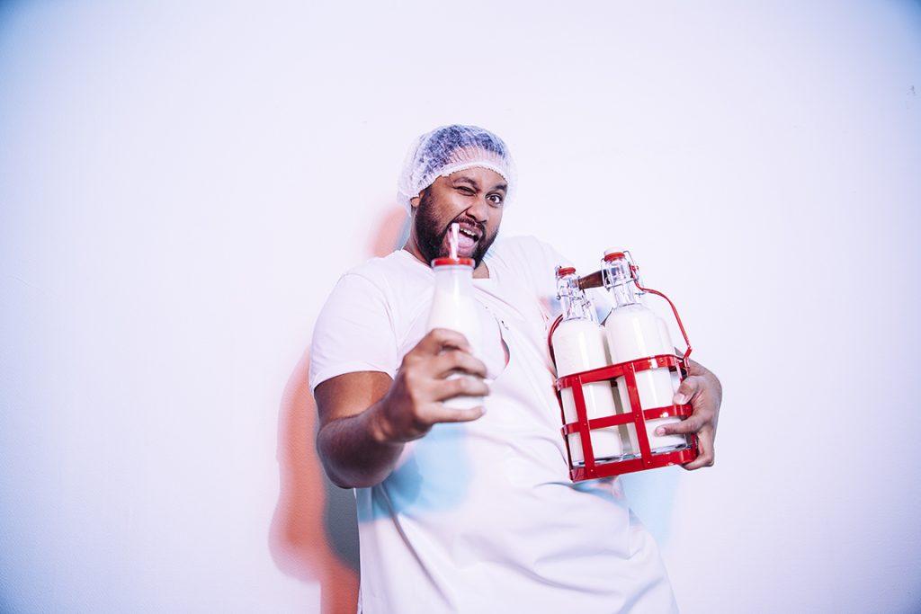 Fan de lait à la menthe, Kevin Razy cccc